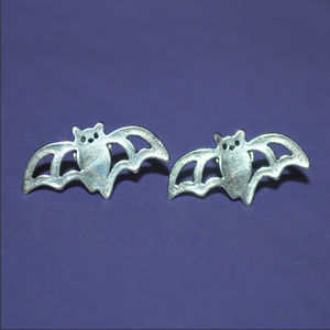 Silver Bat Earrings